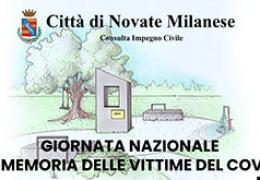 """Novate Milanese celebra la prima """"Giornata nazionale in memoria di tutte le vittime dell'epidemia da coronavirus"""""""